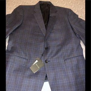 Giorgio Armani Wool Blazer In Blue Size 56R / 44US